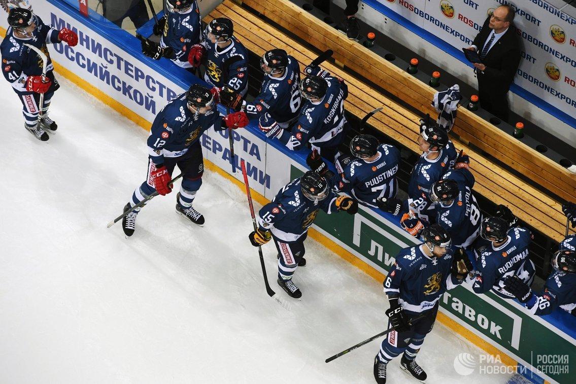 Игроки сборной Финляндии по хоккею