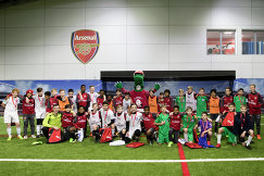 Юные российские футболисты на базе лондонского Арсенала
