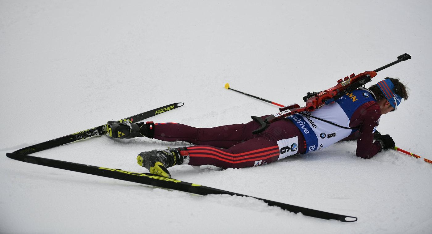 Русские биатлонисты стали четвертыми вэстафете наэтапе Кубка мира