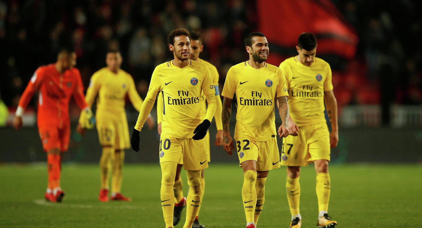 Дубль Неймара помог «ПСЖ» одолеть «Ренн» вматче чемпионата Франции