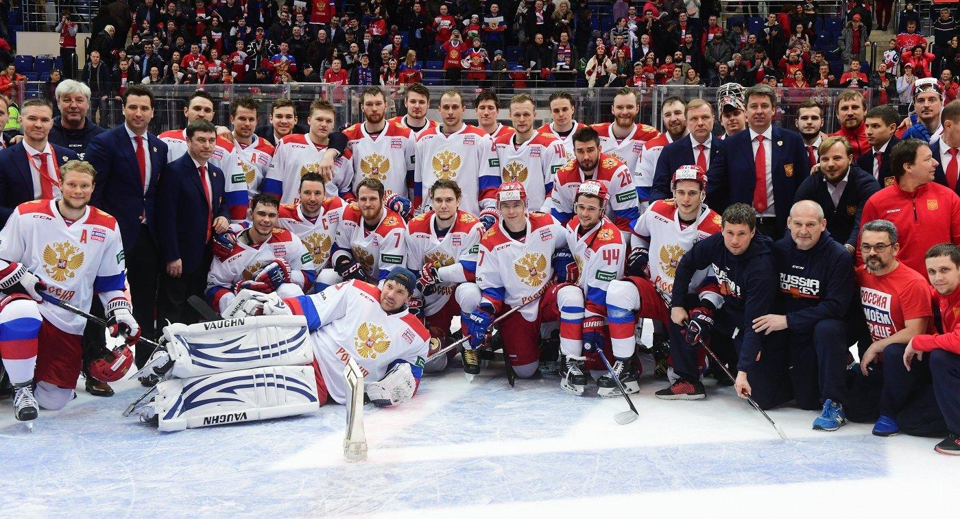Сборная России по хоккею, победитель второго этапа Еврохоккейтура 2017/18 Кубок Первого канала