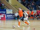 Игровой момент матча чемпионата России по мини-футболу Автодор - Тюмень