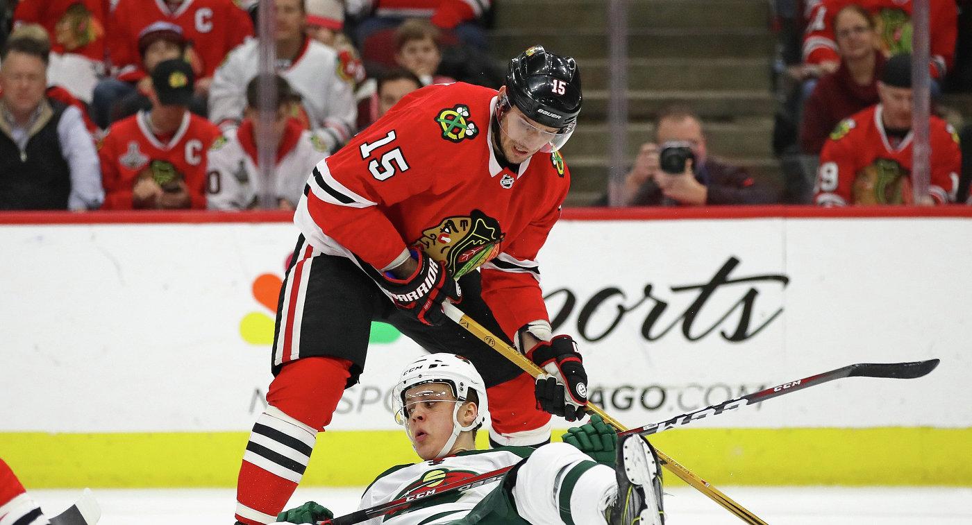 Пас Анисимова помог «Чикаго» выиграть у«Миннесоты» вматче НХЛ