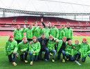 Российские дети перед матчем английской премьер-лиги Арсенал - Ньюкасл