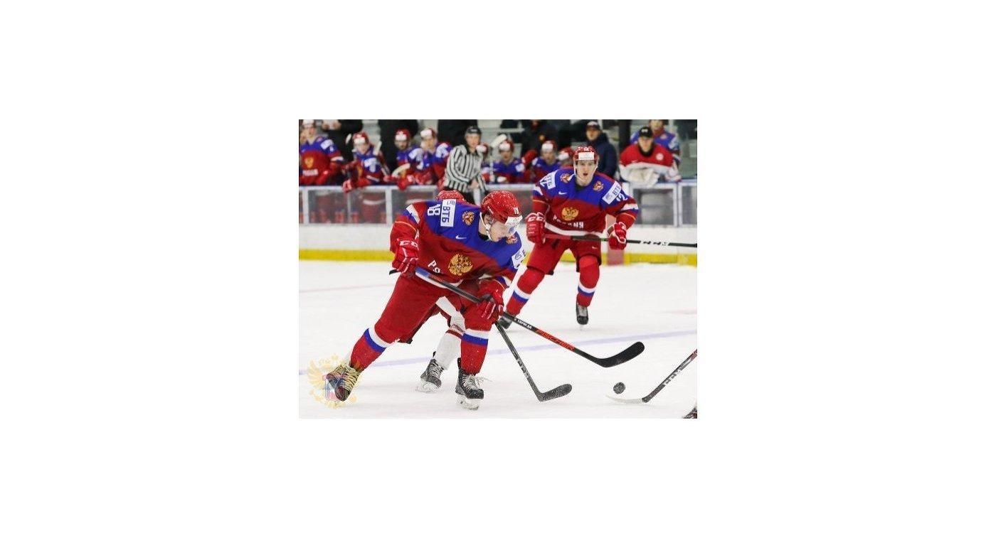 Молодежная сборная РФ  похоккею обыграла команду Дании