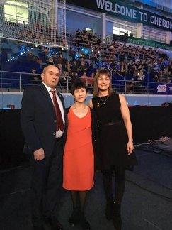 Наталья Гольц с родителями