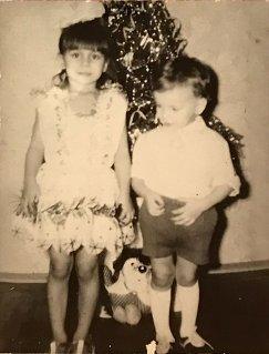 Наталья Гольц (слева) в детстве