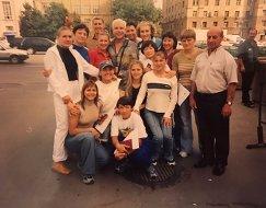 Наталья Гольц со спортсменами на встрече с Борисом Моисеевым (в центре)