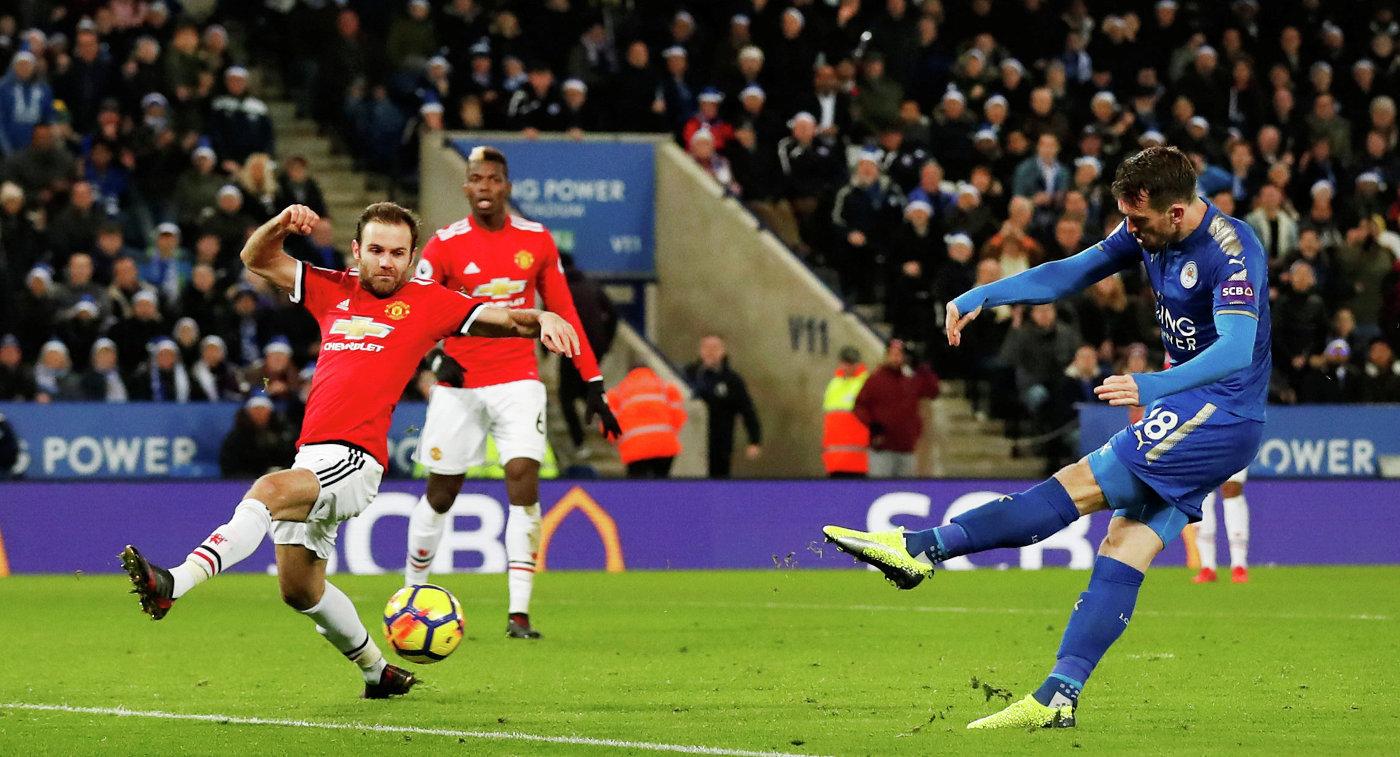 «Лестер» напоследней минуте ушел отпоражения вматче с«Манчестер Юнайтед»