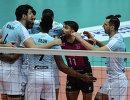 Игроки ВК Зенит-Казань радуются выигранному очку
