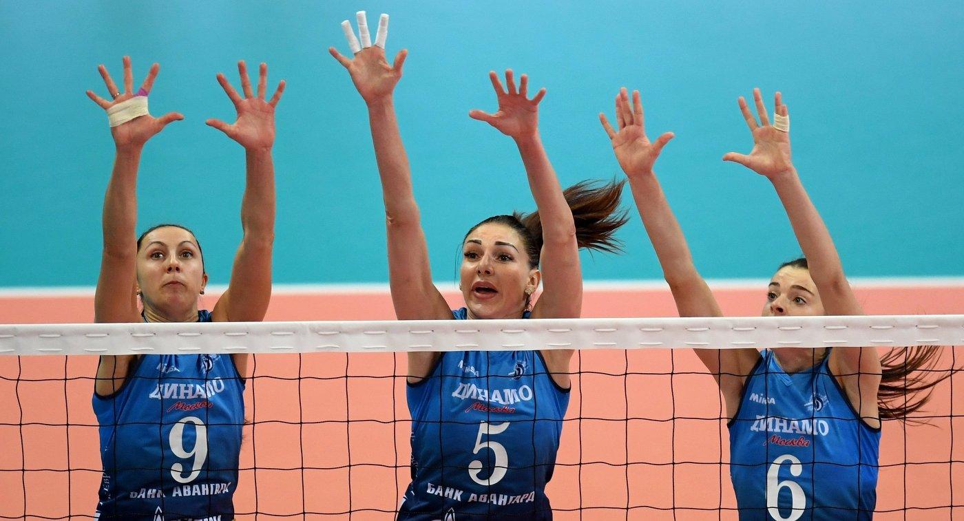 Волейболистки московского «Динамо» 3-й раз подряд выиграли чемпионат РФ