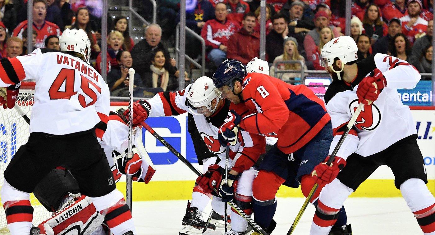 """""""Вашингтон"""" обыграл """"Нью-Джерси"""" в матче НХЛ, Овечкин отдал три голевые передачи"""