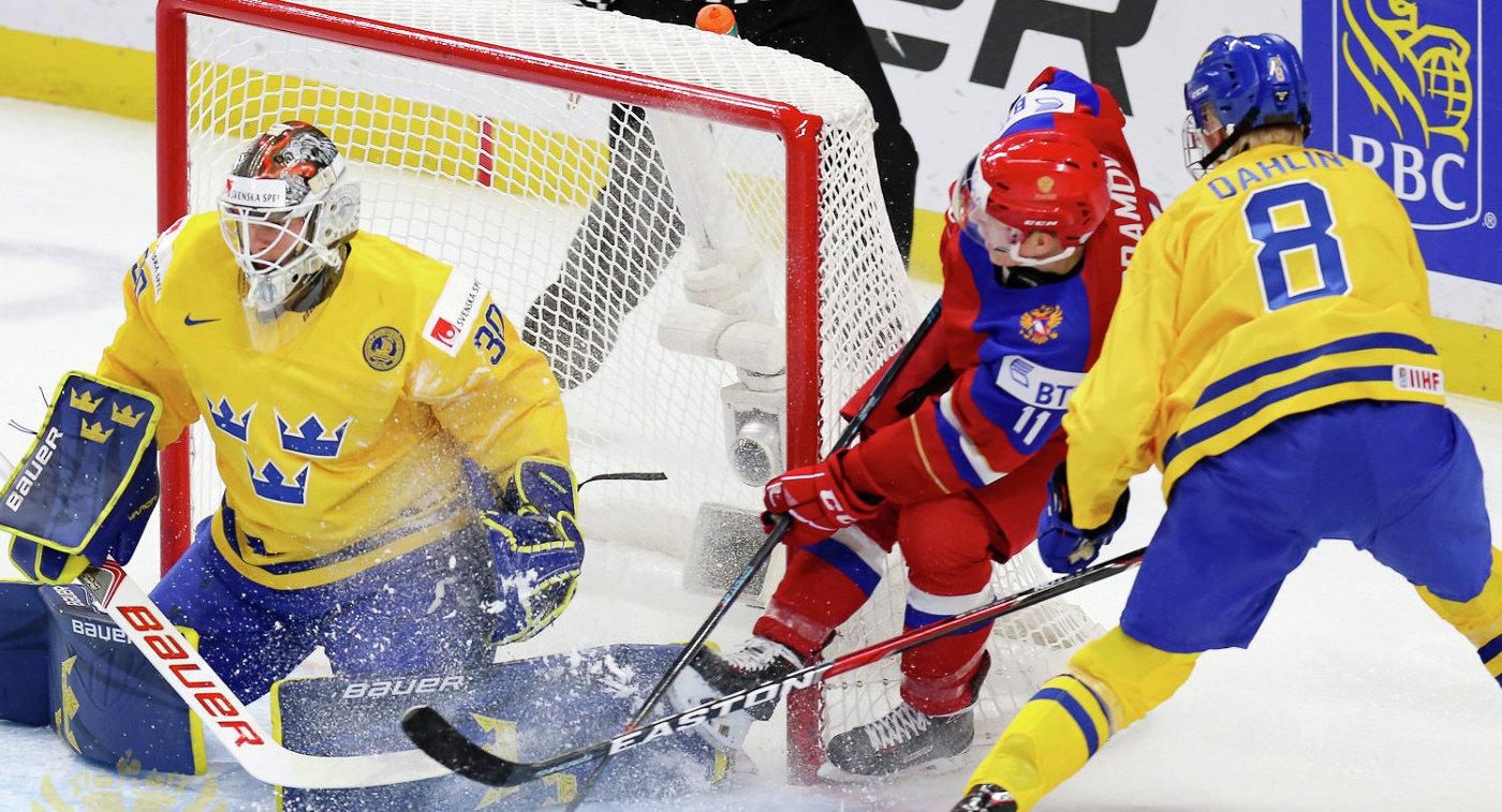 Сборная России уступила по буллитам шведам на МЧМ и в 1/4 финала сыграет с США