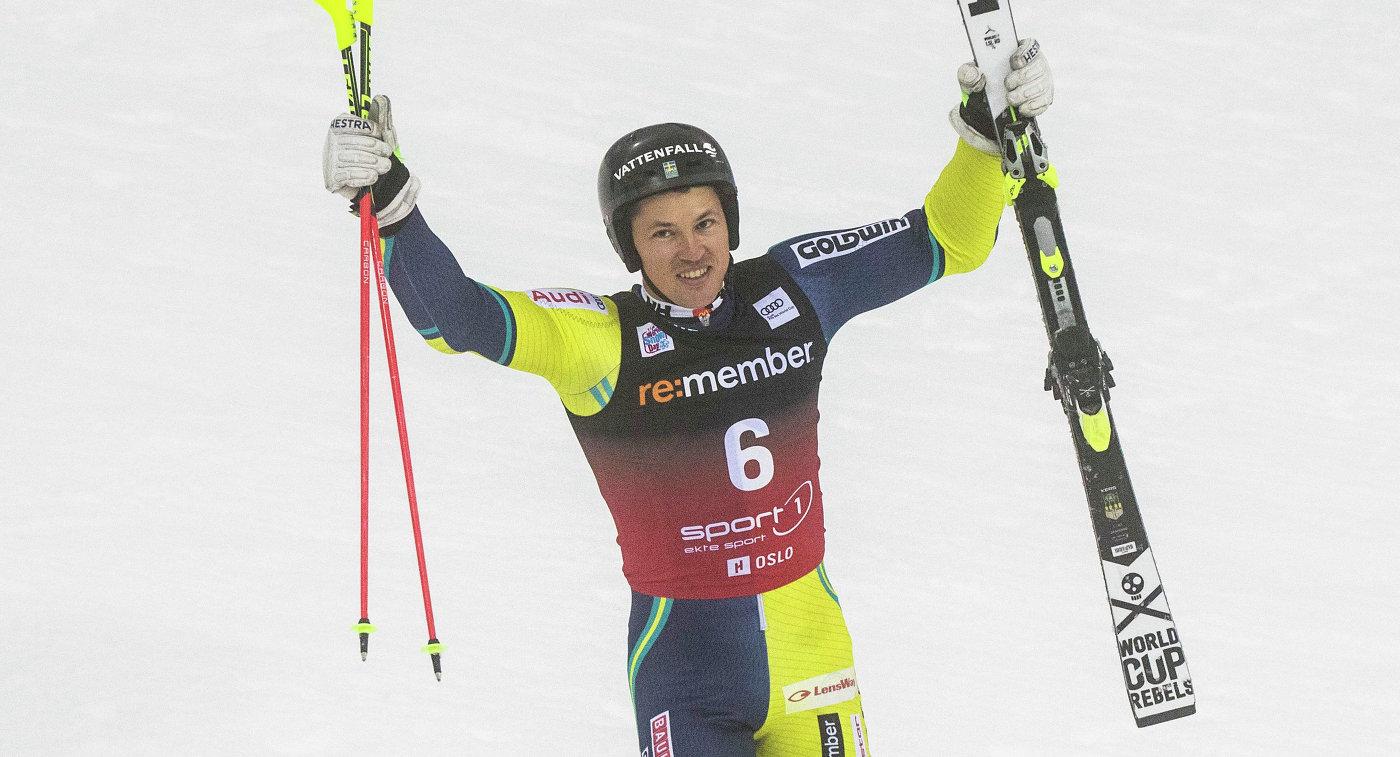 Шведский горнолыжник Андре Мюрер