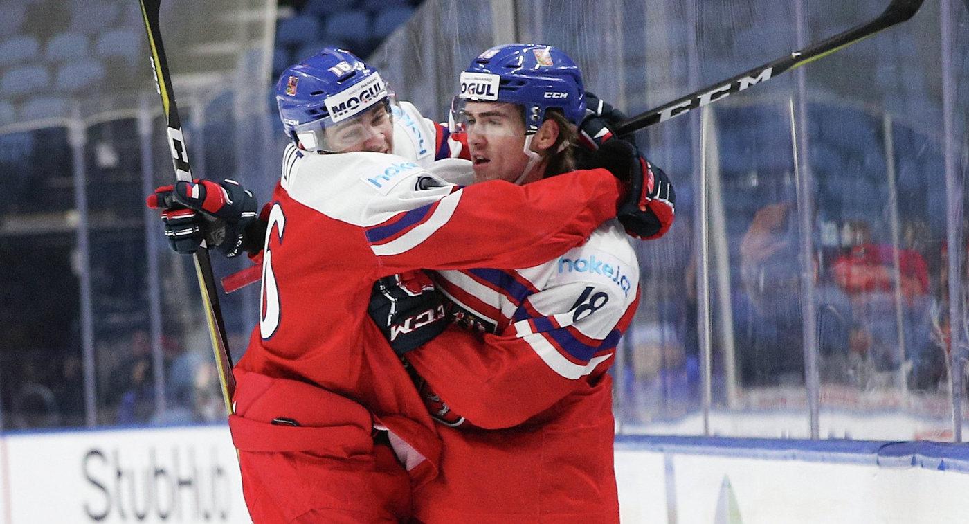 Сборная Чехии прошла вполуфинал молодежного чемпионата мира