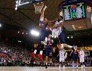 Игровой момент матча регулярного чемпионата Евролиги Барселона - ЦСКА