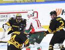 Игровой момент матча КХЛ Северсталь - Ак Барс