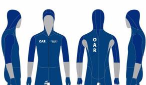 Комбинезоны российских конькобежцев на ОИ-2018