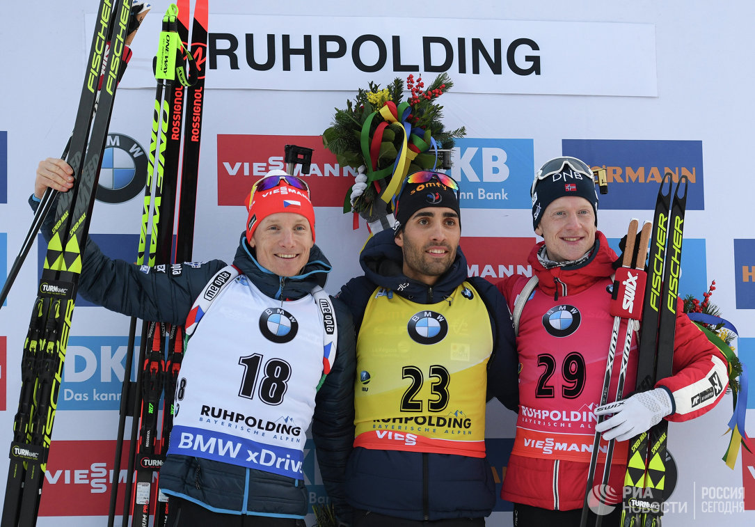 Ондржей Моравец, Мартен Фуркад и Йоханнес Бё (слева направо)