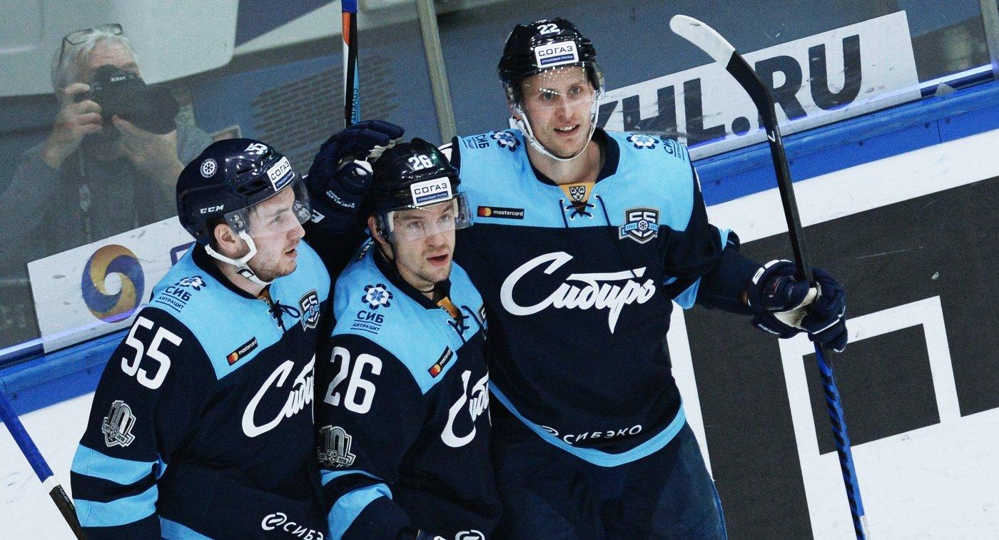 Игроки ХК Сибирь