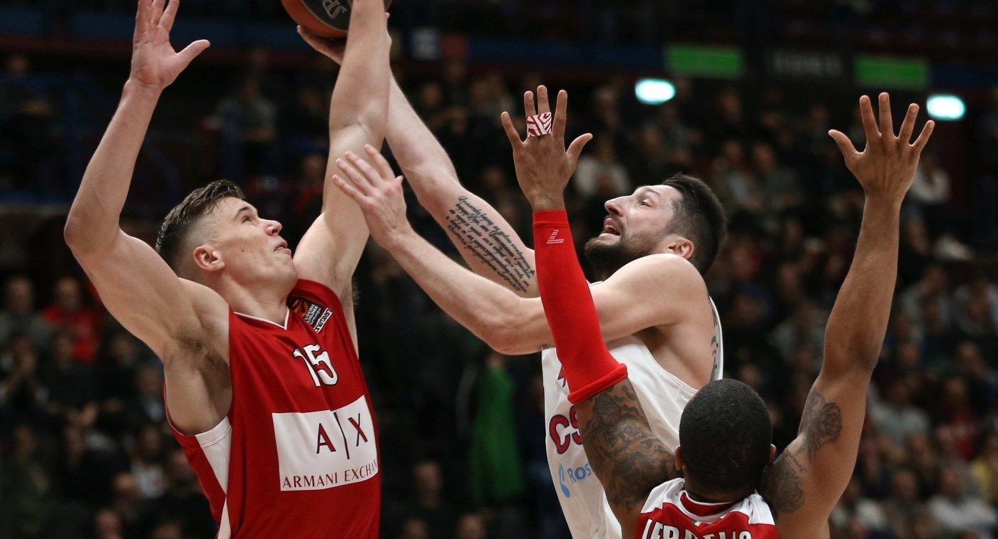 ЦСКА навыезде разгромил «Милан» вматче баскетбольной Евролиги