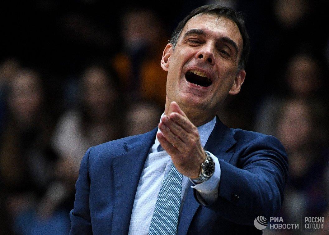 Главный тренер БК Химки Георгиос Барцокас