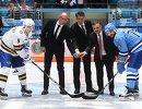 Дмитрий Кагарлицкий, Дмитрий Чернышенко, Асет Исекешев, Рене Фазель и Андрей Марков (слева направо)