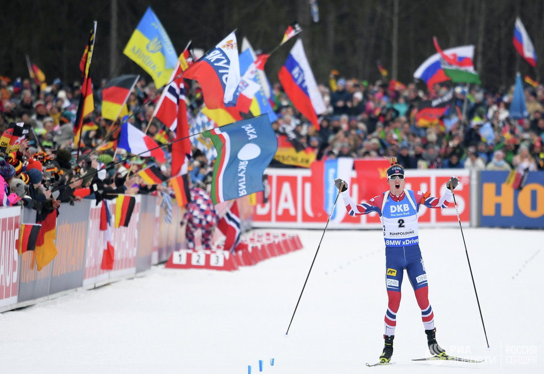 Намасс-старте Кубка мира побиатлону уралец Антон Шипулин пришел 15-ым