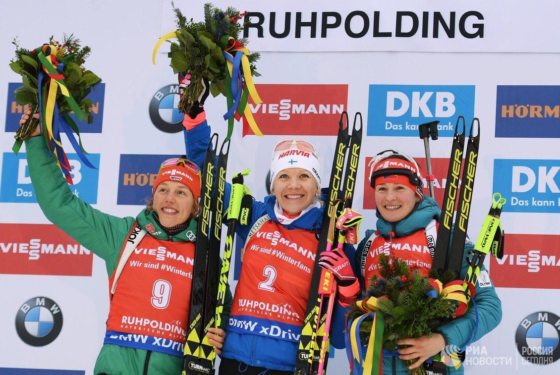 Лаура Дальмайер, Кайса Мякяряйнен и Вероника Виткова (слева направо)