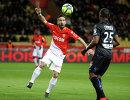 Игровой момент матча Монако - Ницца