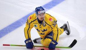 Форвард сборной Швеции Антон Ландер