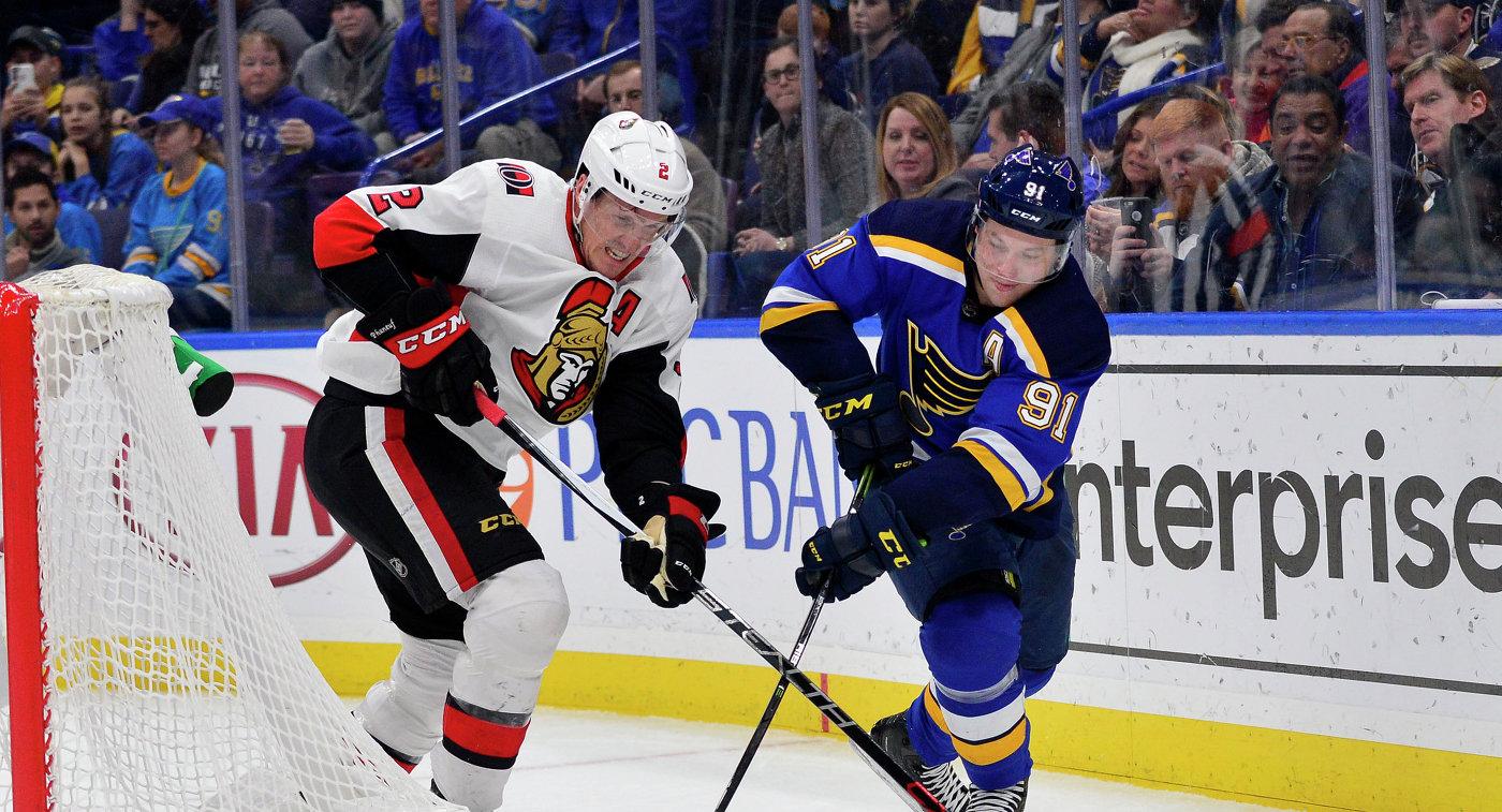 Гол Тарасенко помог «Сент-Луису» одолеть «Оттаву» вматче НХЛ