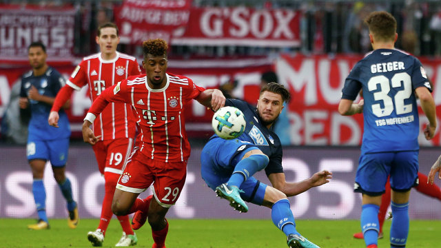 Игровой момент матча чемпионата Германии Бавария - Хоффенхайм