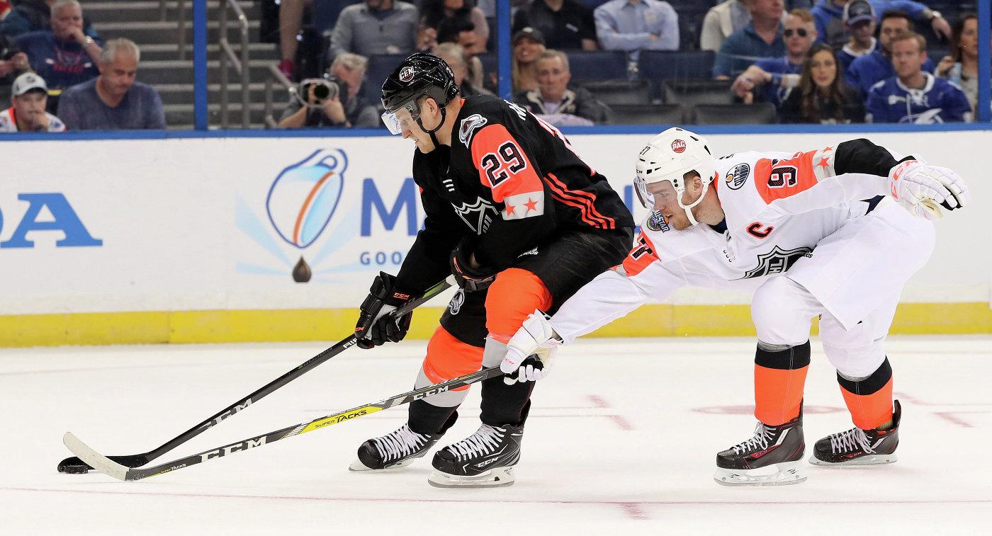 Кучеров— 2-ой житель россии, оформивший хет-трик вМатче звезд НХЛ