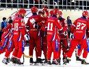 Игроки сборной России радуются победе