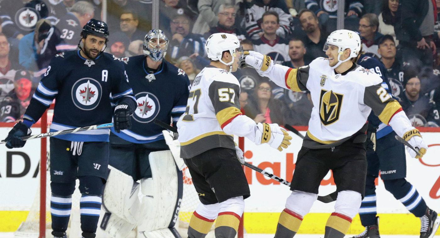 «Вегас» обыграл «Виннипег» иустановил рекорд НХЛ попобедам для новичка лиги