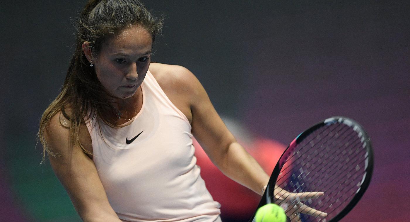 Касаткина обыграла первую ракетку мира Возняцки вчетвертьфинале турнира WTA вПетербурге