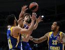 Игроки БК Химки Энтони Гилл, Алексей Швед, Малкольм Томас (слева направо)