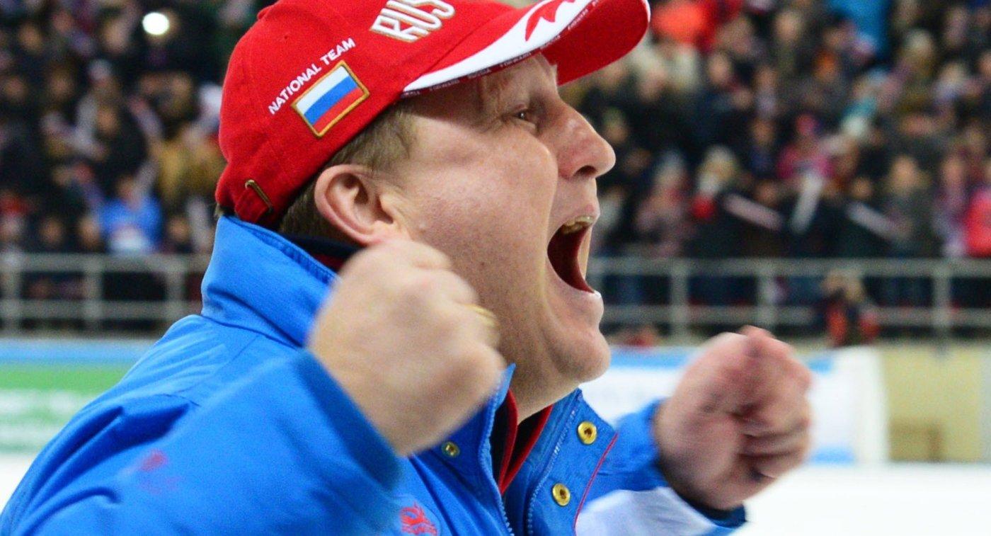 Главный тренер сборной России по хоккею с мячом Михаил Юрьев