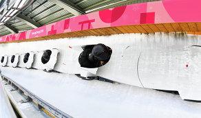 Российская спортсменка Надежда Сергеева во время тренировки двоек