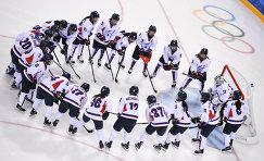 Хоккеистки объединенной команды Кореи
