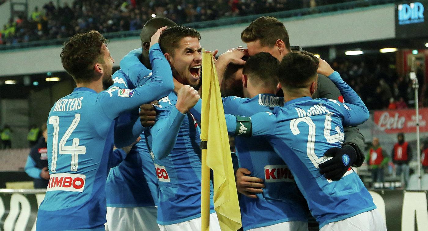 Гол Альбиоля принес «Наполи» победу над «Дженоа» в29-м туре чемпионата Италии