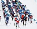 Старт мужского скиатлона на ОИ-2018