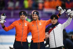 Патрик Руст (Нидерланды) - 2-е место, Кьелд Нёйс (Нидерланды) - 1-е место, Мин Сок Ким (Южная Корея) - 3-е место.