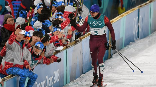Российский спортсмен Александр Большунов