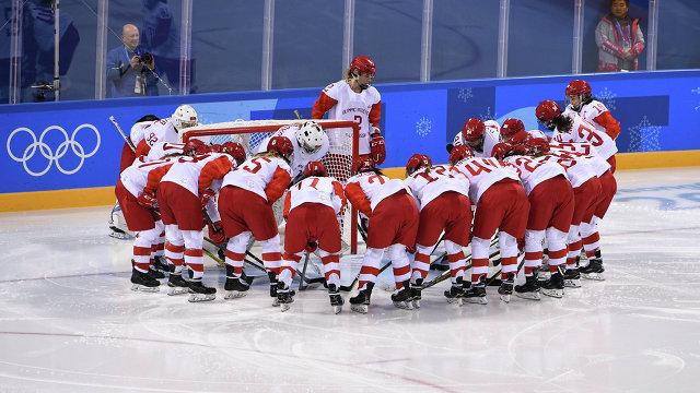 Российские хоккеистки перед матчем против США