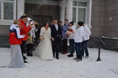 Свадьба скелетонистки Ольги Потылицыной и фристайлисты Семена Денщикова