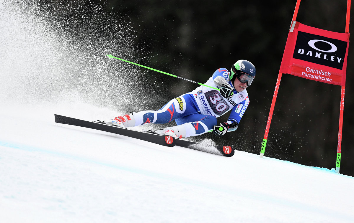 Российский горнолыжник Александр Андриенко