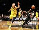 Игровой момент матча НБА Бруклин - Индиана
