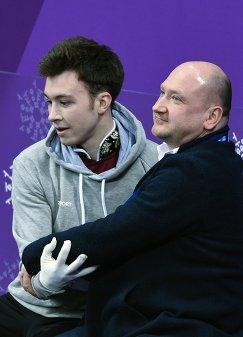Дмитрий Алиев его тренер Евгений Рукавицын
